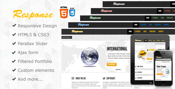 Response - Responsive Html5 Template