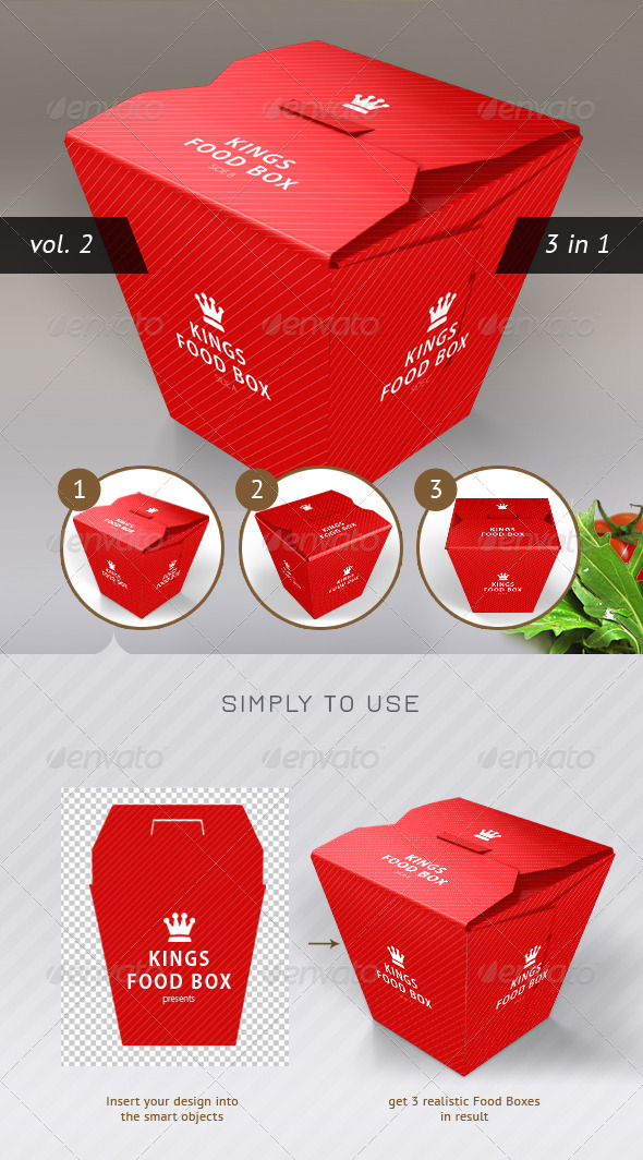 GraphicRiver Food Box Vol.2 Mock-up Template 2626537