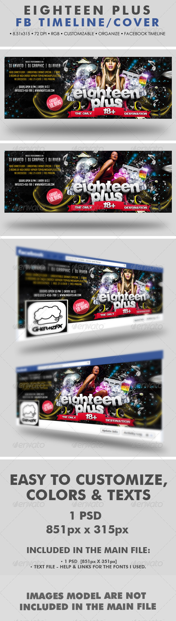 Graphicriver Eighteen Plus Facebook Timeline Cover