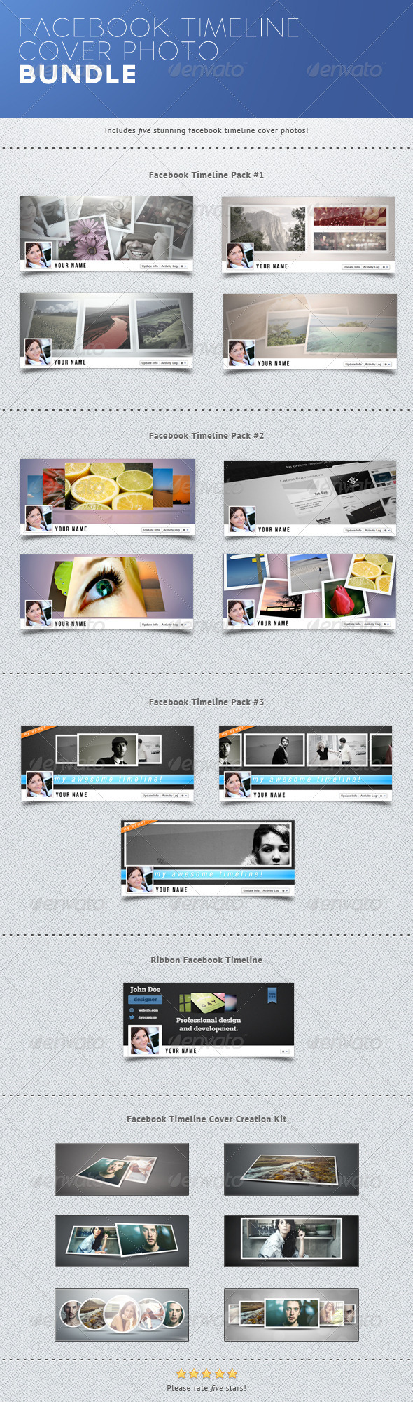GraphicRiver Facebook Timeline Covers Bundle 2642446