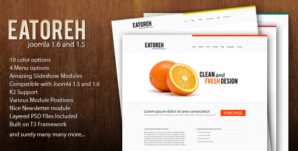 Eatoreh - Clean and Fresh 1.6 and 1.5 - Creative Joomla