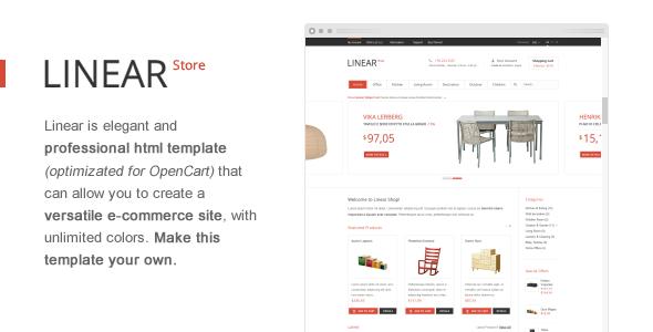 Linear Store – Premium HTML OpenCart Design
