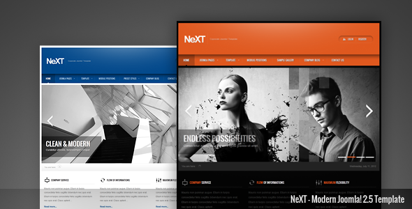 NeXT - Clean Professional Responsive Joomla Template