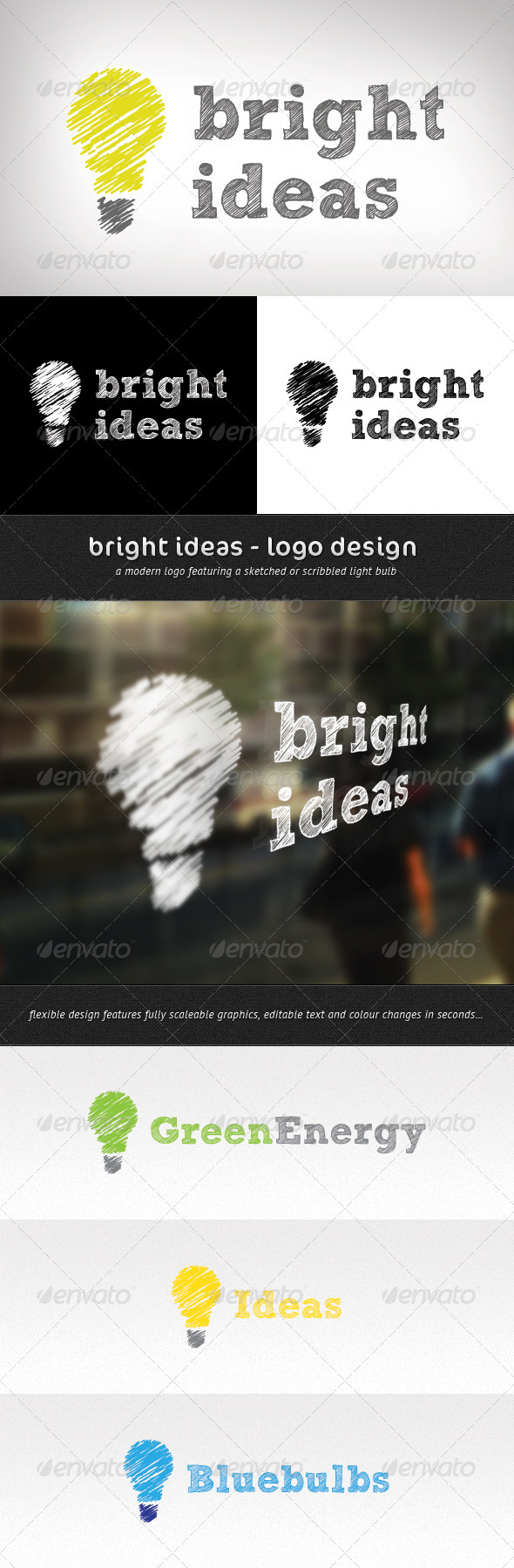 Bright Ideas Logo Design - Objects Logo Templates