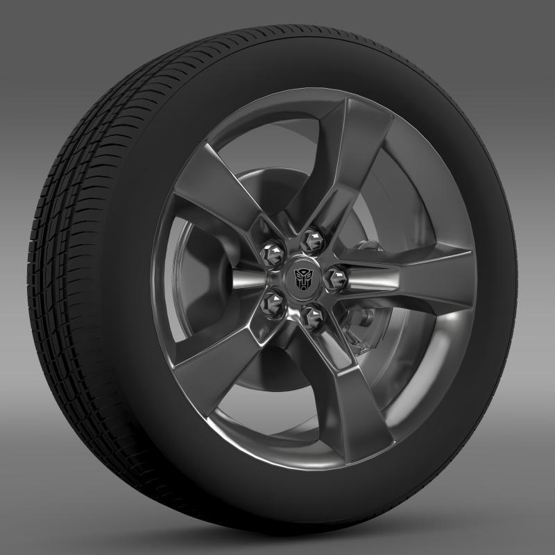 3DOcean Chevrolet Camaro 2010 transformer wheel 2643066