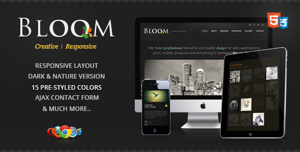 Bloom - Responsive One Page Template
