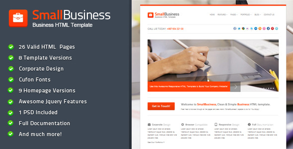 SmallBusiness - Business HTML Template