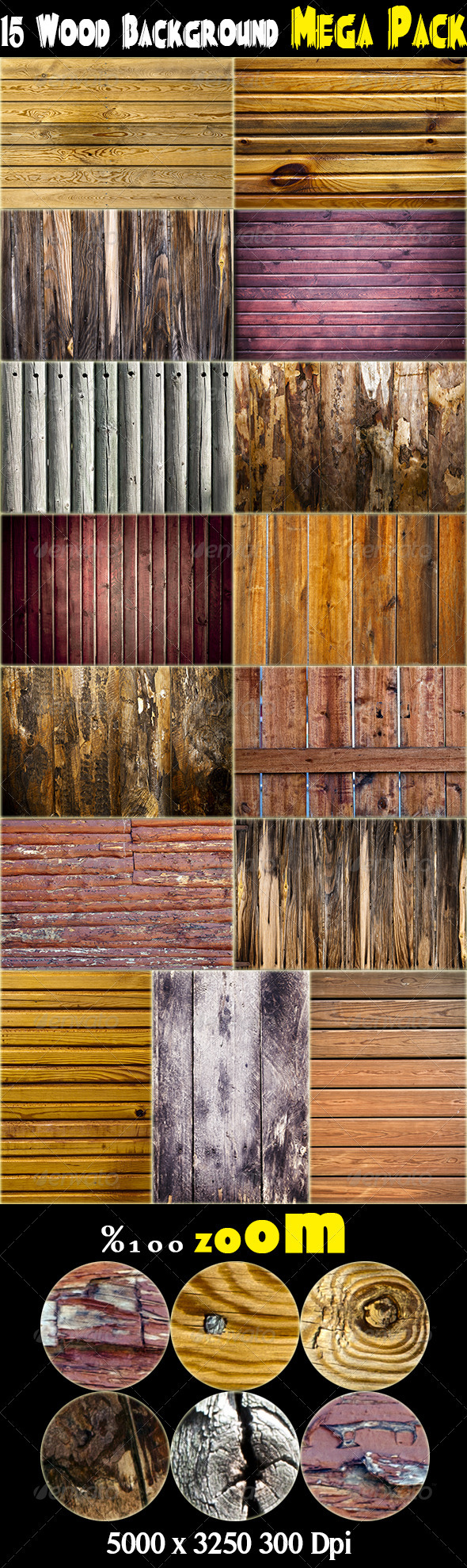 15 Wood Background Mega Pack - Wood Textures