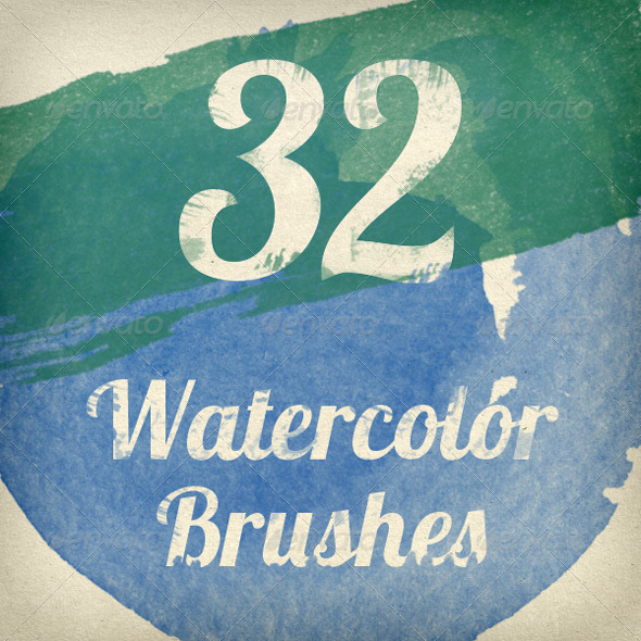 GraphicRiver Watercolor Strokes Photoshop Brush Pack 2644503