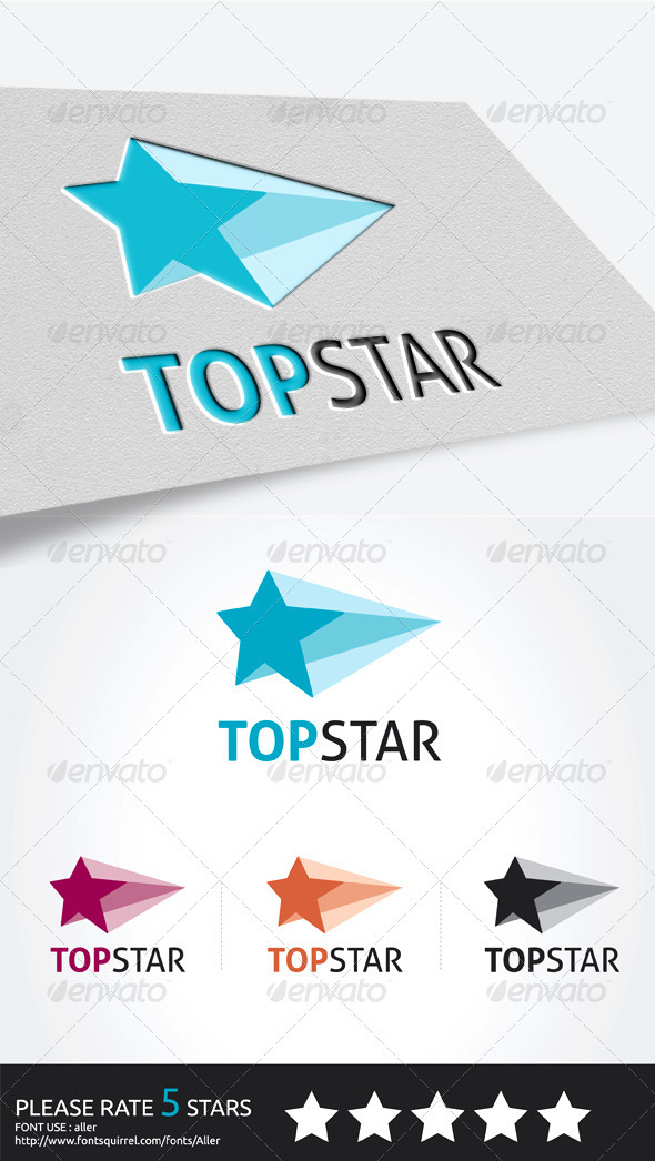 TOP STAR logo - Symbols Logo Templates
