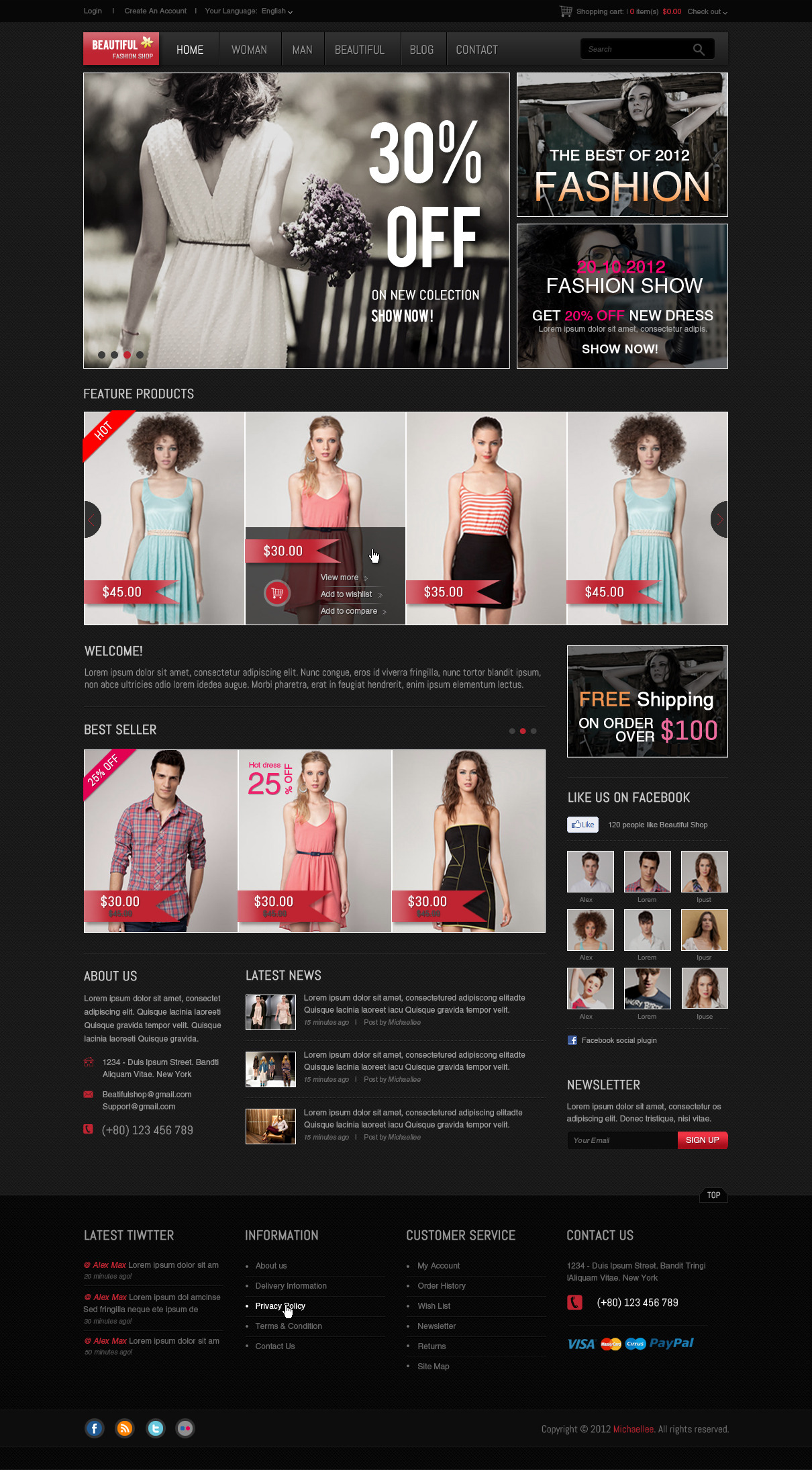 Beautiful Shop PSD