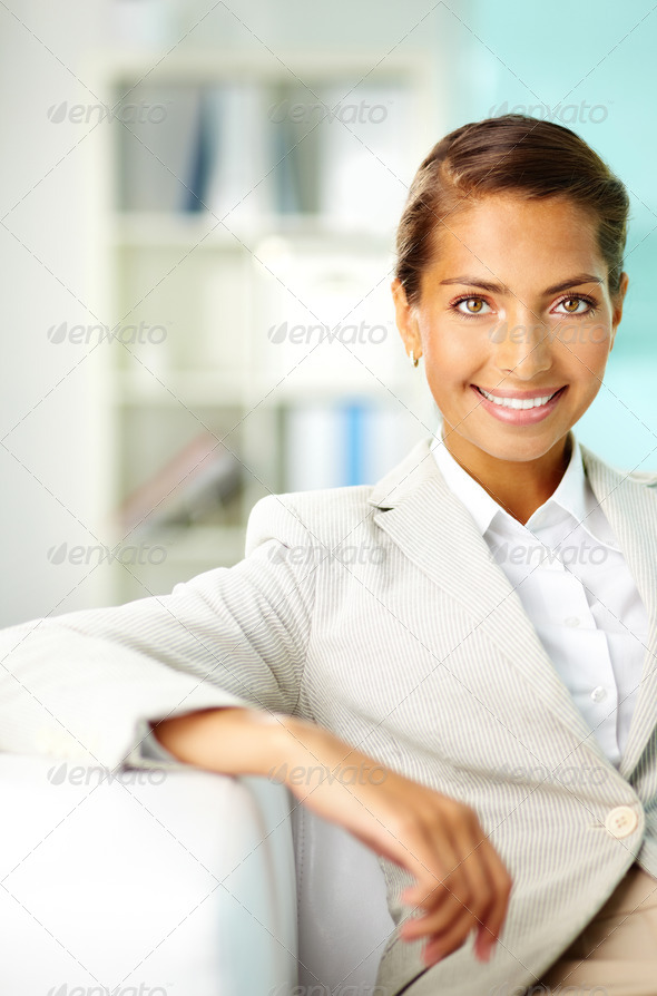 Positive woman - Stock Photo - Images