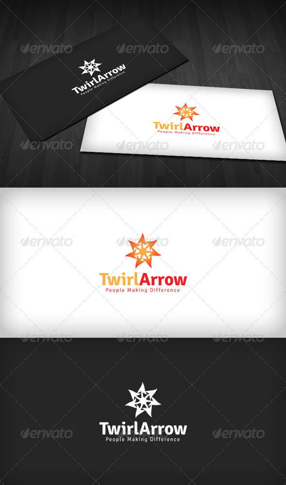 Twirl Arrow Logo