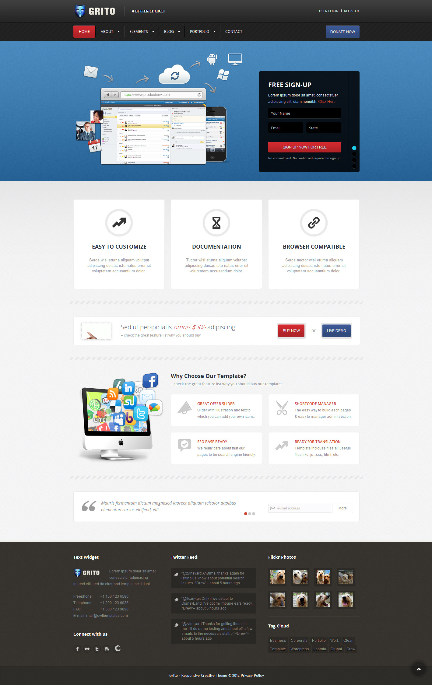 Grito - Corporate Business HTML Template