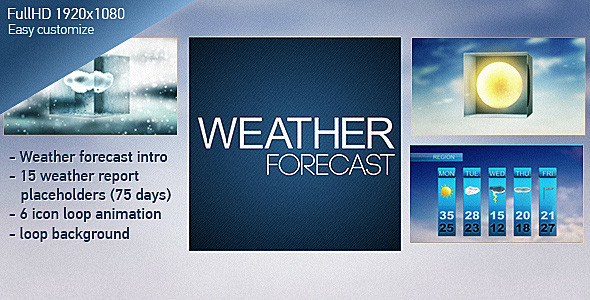 After Effects Project - VideoHive Weather Forecast Broadcast Graphics Pack  ...