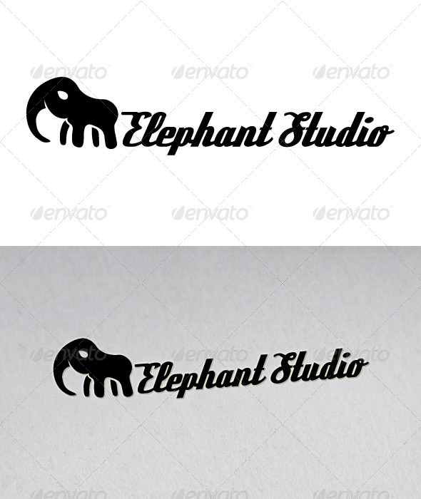 Elephant Studio Logo - Animals Logo Templates