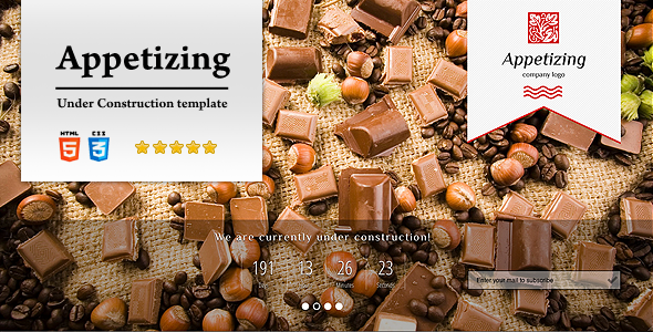Appetizing Under Construction Template