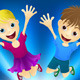 Happy children jumping for joy - GraphicRiver Item for Sale
