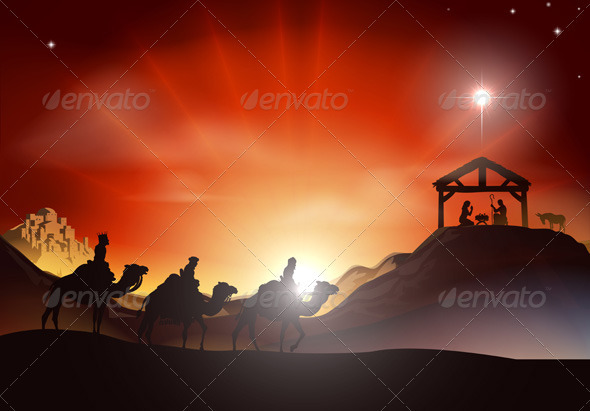 GraphicRiver Traditional Christmas Nativity Scene 2646374