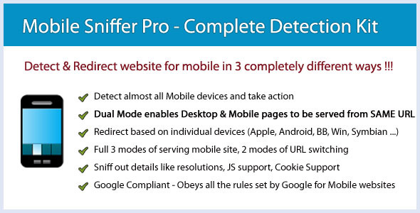 CodeCanyon Mobile Sniffer Pro Detection & Redirection Tool 2646620