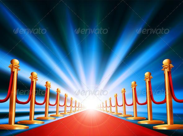 Red carpet entrance - Conceptual Vectors