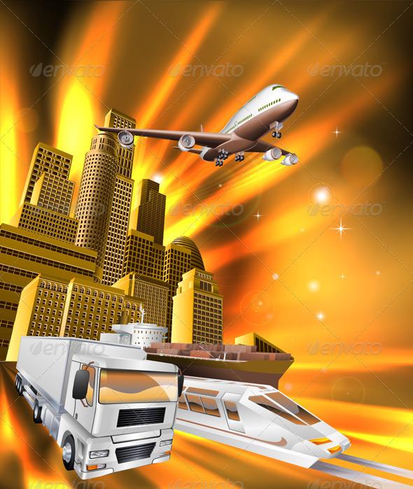 City Logistics Delivery Graphic - Concepts Business