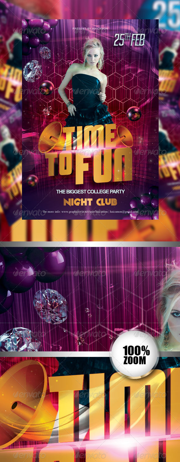 Time To Fun Party Flyer