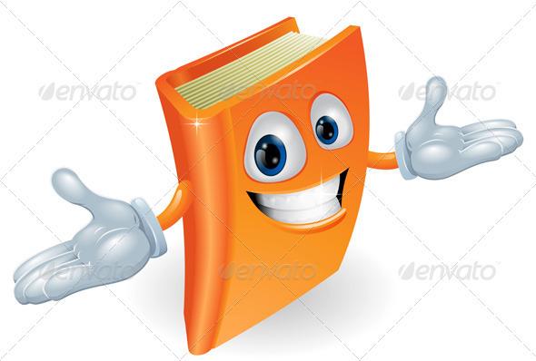 GraphicRiver Book cartoon character mascot 2647126