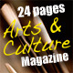 24 Pages Arts & Culture Magazine - GraphicRiver Item for Sale