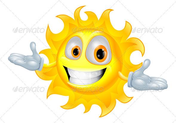 GraphicRiver Cute sun mascot cartoon character 2647448