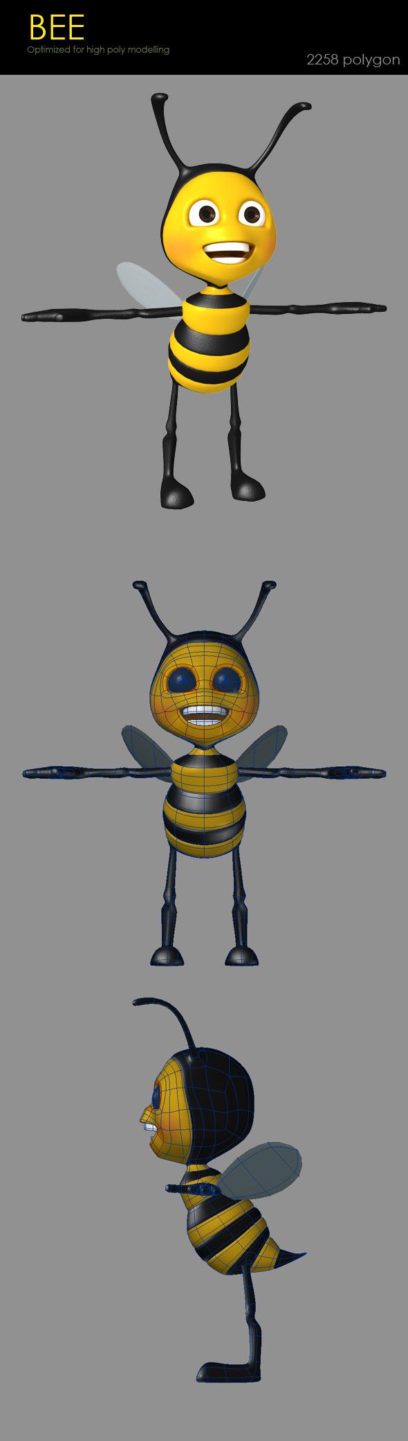 3DOcean Cute Bee 2647514