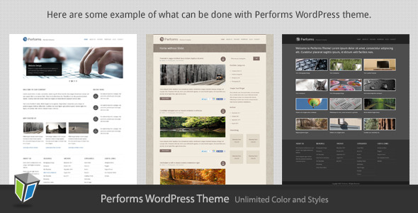 Performs - Corporate Business WordPress Theme