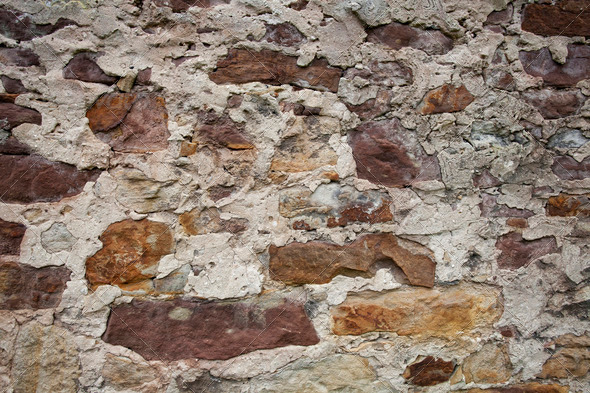 Old Stone Wall II - Stock Photo - Images