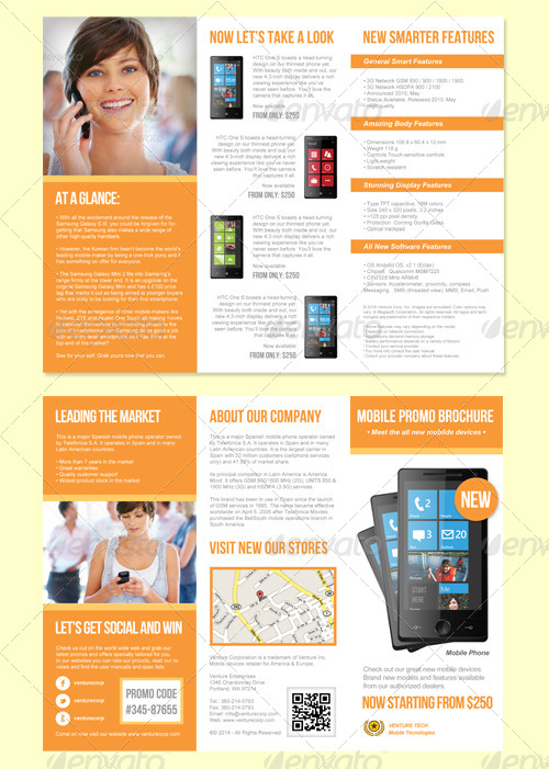 Product promotion trifold brochure by graphikaria for Informational brochure templates