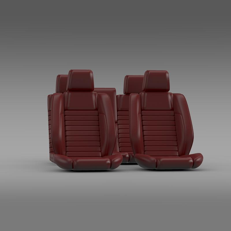 Car seats of Ford Mustang Shelby - 3DOcean Item for Sale