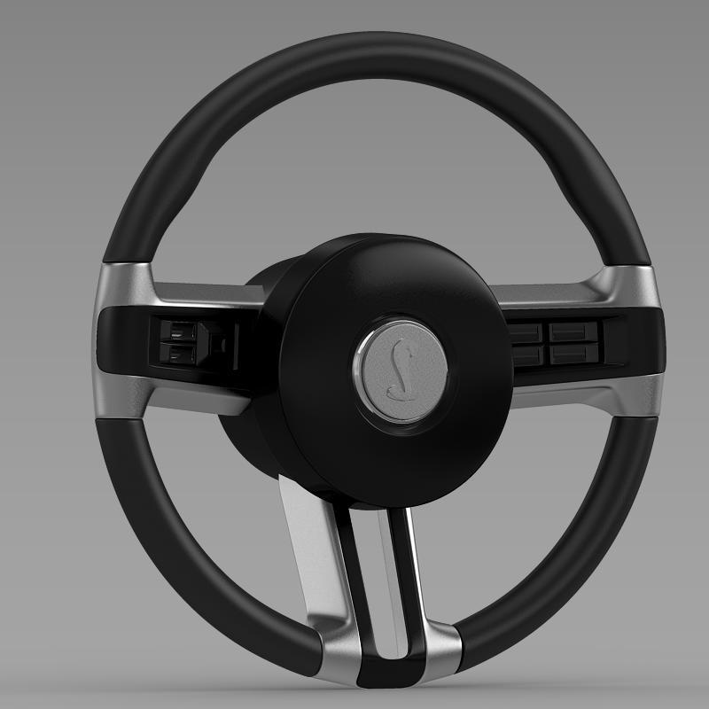 Steering Wheel Shelby Mustang - 3DOcean Item for Sale