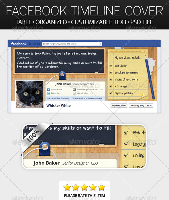 Table Facebook Timeline Cover