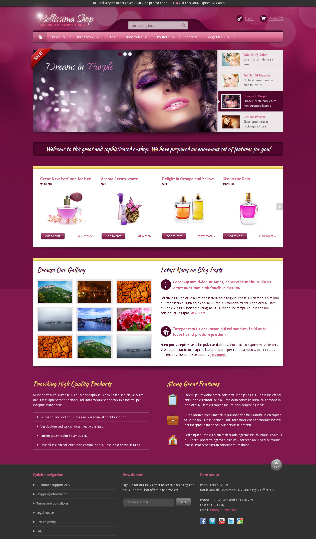 Bellissima eCommerce HTML Template