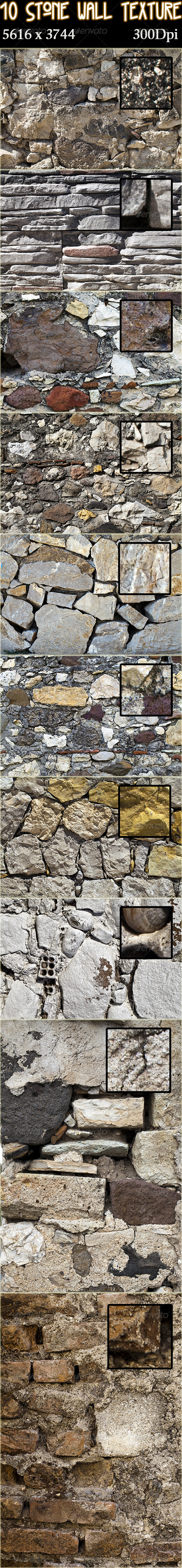 10 Stone Wall Texture Pack - Stone Textures