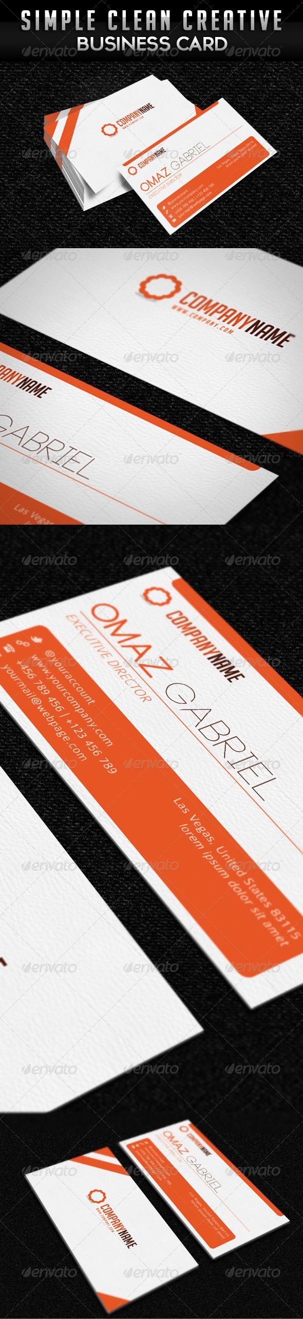 Simple Clean Minimalist Business Card