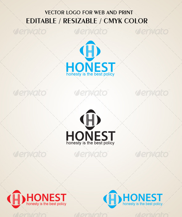 Honest Logo Template - Letters Logo Templates