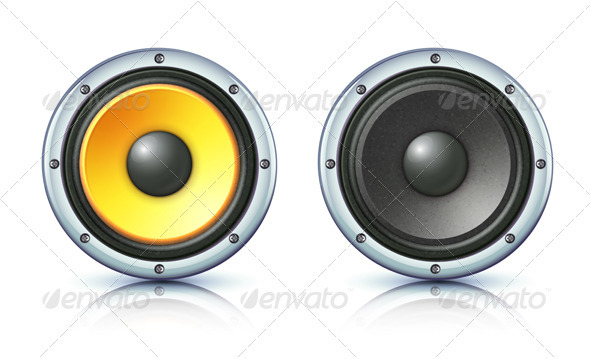 Sound loud speakers  - Technology Conceptual