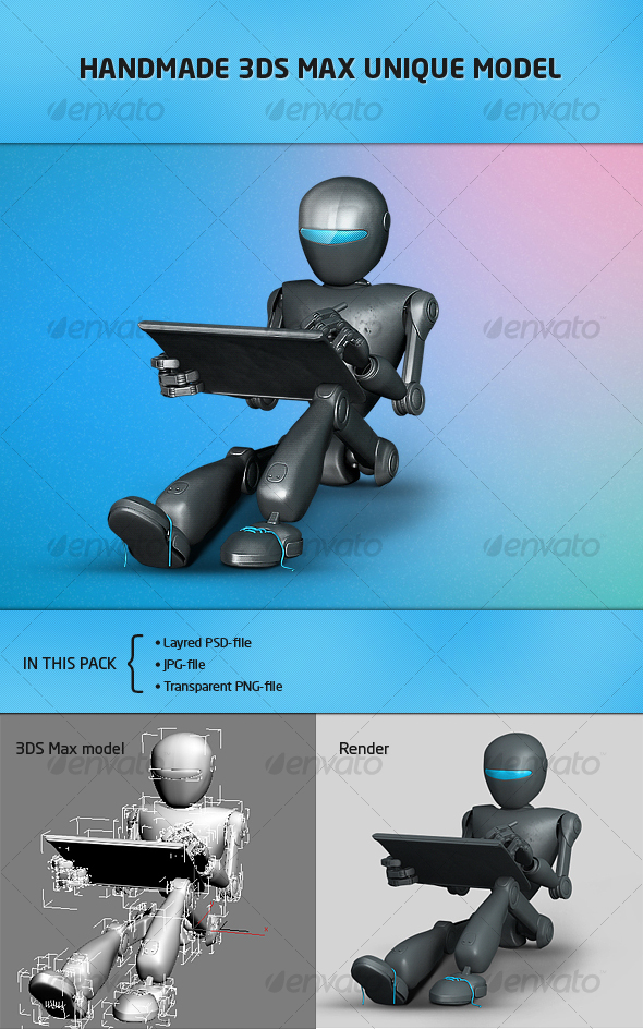GraphicRiver Futuristic robot for website-portfolio 95975