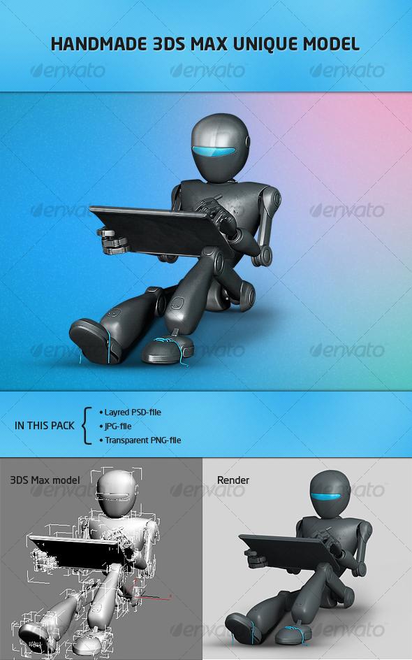 Futuristic robot for website-portfolio