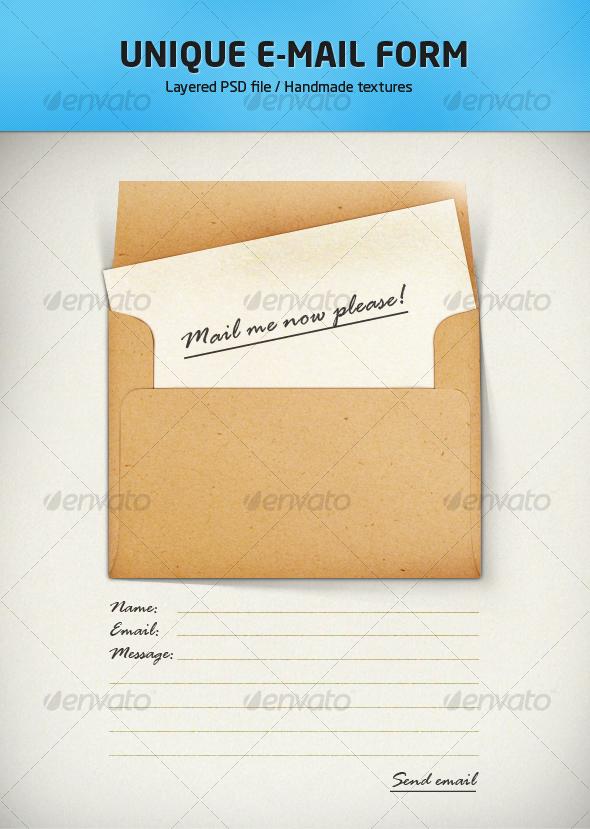 GraphicRiver E-mail form illustration 95977