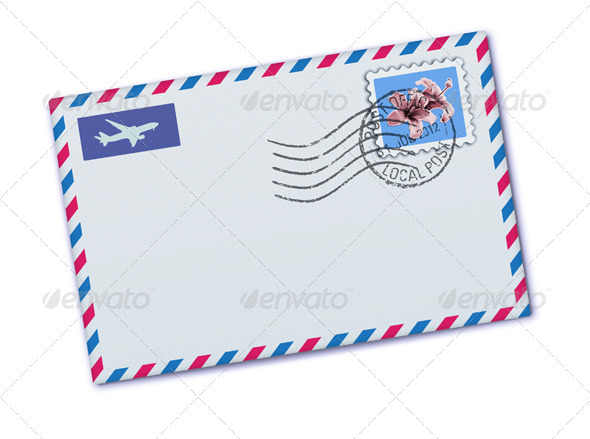 airmail envelope template