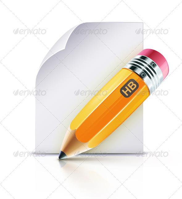 GraphicRiver Yellow Pencil 2651642