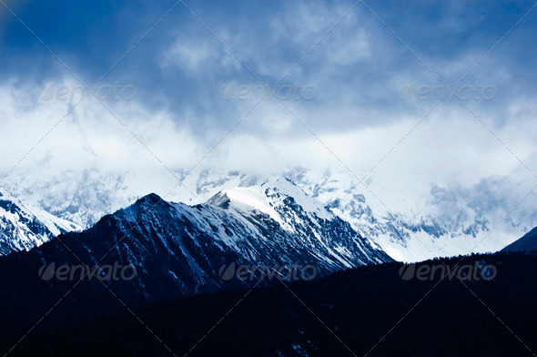 Scenic winter mountain - Stock Photo - Images