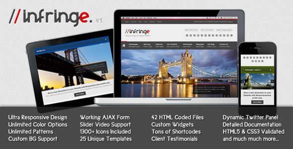 Infringe - Responsive Business & Corporate Website