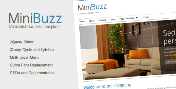 Minibuzz - Clean Minimalist Business HTML Template